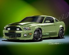 2012 MUSTANG Shelby GT500 Road Warrior (Machine Green) http://www.dannywhitfield.com/