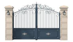 Front Gate Design, Main Gate Design, House Gate Design, Home Room Design, Front Gates, Entrance Gates, Steel Stairs Design, Wrought Iron Gate Designs, Home Salon