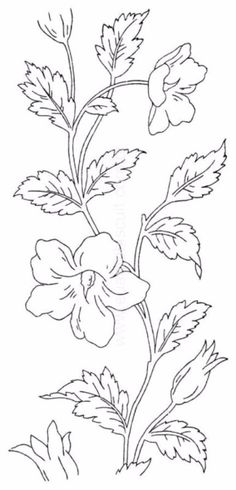 New embroidery vintage flowers colour 17 Ideas Embroidery Flowers Pattern, Hand Embroidery Designs, Vintage Embroidery, Embroidery Art, Flower Patterns, Embroidery Stitches, Flower Pattern Drawing, Stencil Patterns, Painting Patterns