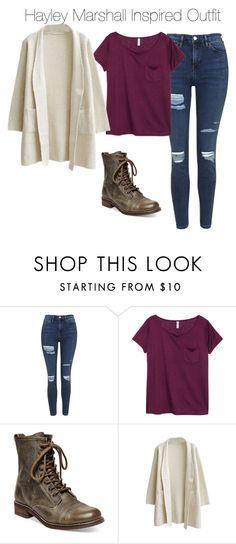 """Hayley Marshall Inspired Outfit #235"" by blackwidow3 on Polyvore featuring moda, Topshop, H&M, Steve Madden, TheOriginals, PhoebeTonkin, hayleymarshall i buildforgirls"