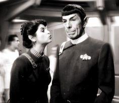Spock and Saavik | Behind the Scenes Star Trek Wrath of Khan (Leonard Nimoy & Kirsty Alley)