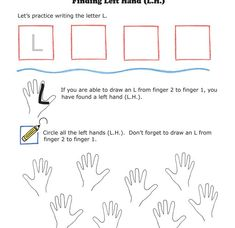"""Which one is the left hand? The one with the """"L"""" of course - great visual worksheet to help students reinforce that their LEFT hand makes and L shape! FREE printable great for the first piano lesson!"""