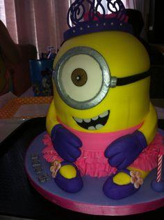 Princess minion birthday cake :) the best of both worlds!