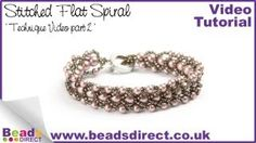 How to Make a Stitched Flat Spiral Bracelet PART2