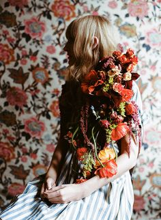 Flower jacket... We think this picture is by Parker Fitzgerald. (Does anyone know for sure?)