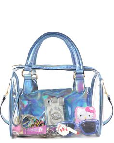 See Through Hologram Tote + Clutch $65.00