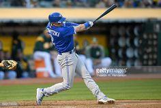 News Photo : Troy Tulowitzki of the Toronto Blue Jays hits an...