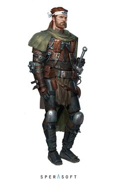 Character concept, Sperasoft Studio on ArtStation at https://www.artstation.com/artwork/1XENZ