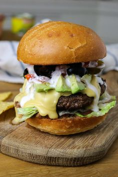 """""""Seven Layer Dip"""" Burgers - From Away"""