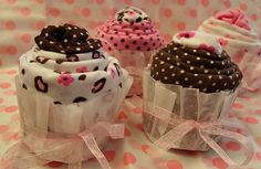 How to make homemade baby shower gifts: Baby shower Cupcakesies