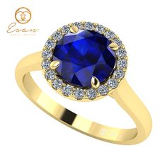 Inel de logodna cu safir si diamante ES151 Sapphire, Victoria, Rings, Jewelry, Jewlery, Jewerly, Ring, Schmuck, Jewelry Rings