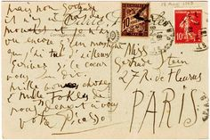A letter from Pablo Picasso to Gertrude Stein