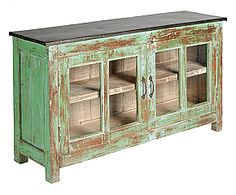 Rustic green buffet table, or any color... For the TV Console