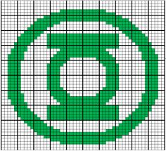 Green Lantern Crochet chart