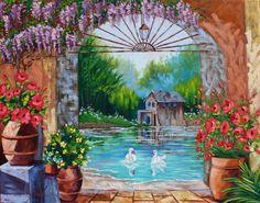 Huge Original Scenic Landscape Art Oil Painting Barn by rbealart, $499.00