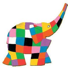 3-D Elmer the Elephant Craft for Kids | The Honorable Mention Preschool Blog
