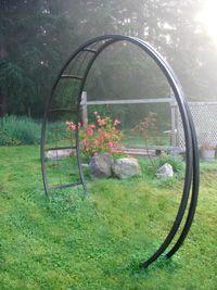 metal garden arch entryway, perfect for vines