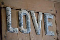 "old zinc ""love"" letters"