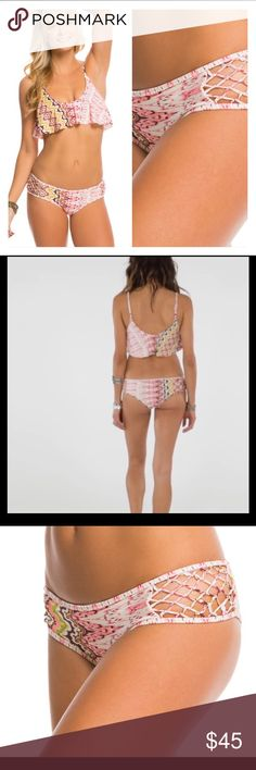 NWT O'Neill Cami Bikini Bathing Suit Swim Adjustable straps.  Fully lined bust with removable soft pads.  Boned sides for support.  Fully lined bikini bottoms with fancy sides.  Color. Pink multi  SZ. XL Retail. $92.00 Brand new with tags. O'Neill Swim Bikinis