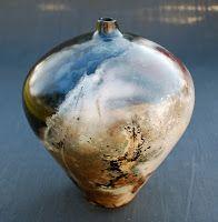 Saagar and raku fired pottery Glass Ceramic, Ceramic Clay, Porcelain Ceramics, Fine Porcelain, Porcelain Tile, Raku Pottery, Pottery Art, Porcelain Jewelry, Japanese Pottery