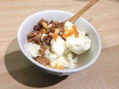 Gelato with Granola & orange peel. http://www.granola.jp