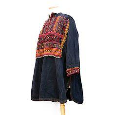Vintage Kohistani Blouse, Tribal Garment, XL from Afghan Tribal Arts /// TAFA Market Handmade Garment Collection: http://www.tafaforum.com/market/tafa-market-handmadegarments/