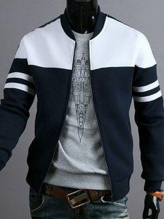 Buy 2018 Brand Men's Zipper Jacket Coat Fashion Hoodies Sportswear at Wish - Shopping Made Fun Mens Winter Coat, Winter Coats, Winter Jackets For Men, Winter Clothes, Mode Mantel, Herren Winter, Herren Outfit, Mens Clothing Styles, Trendy Clothing