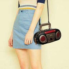 Kawaii Clothing Cute Harajuku Ropa Bag Handbag Radio Music Bolso Tape Cassette