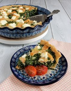 Quiche with salmon,