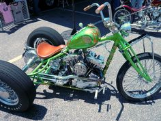 "One of a kind like the legend who built it... ""Indian Larry"" rat trike bike!"