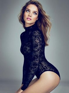 Black lace body suit perfect for layering