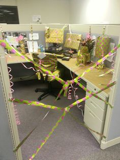 Co Worker Birthday Sabotage Hehe Office Decorations Cubicle