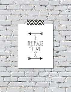 Oh The Places You Will Go Arrow Print Digital File by renandboots