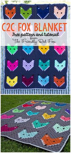These highly special free corner-to-corner crochet blanket patterns, ready to bring coziness to your home!c2c fox blanket free pattern