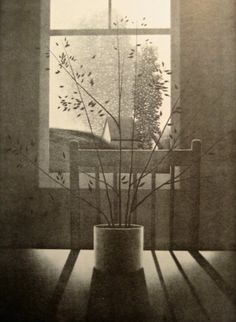 Robert Kipniss (American, b. 1931) - Interior with Chair and Shadow, 1976 - Lithograph