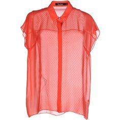 Marios Schwab Kaftan (520 CAD) ❤ liked on Polyvore featuring tops, tunics, red, caftan tunic, short sleeve tops, short sleeve tunic, kaftan tops and red short sleeve top