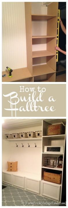 How to Build a Halltree - Farm Fresh Vintage Finds