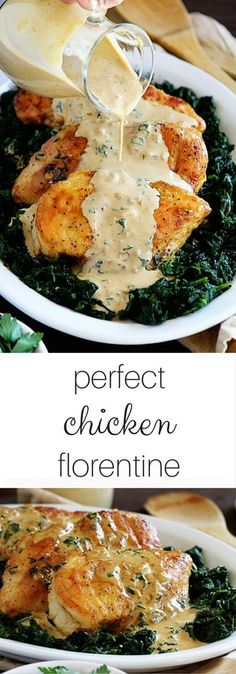 Perfect & Easy Chicken Florentine! I made this for my family and EVERYONE loved it... even the kids!