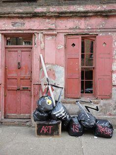 Francisco de Pájaro, Art is Trash Street Art, Londre 2013