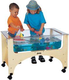 SEE-THRU SENSORY TABLE - Provides ultimate splash control with clear, tuff, nine-inch deep acrylic tub
