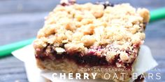 Copycat Starbucks Michigan Cherry Oat Bars Twitter