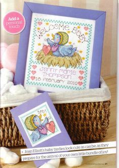 Baby Birdies by Joan Elliott The World of Cross Stitching Issue 161 Hardcopy