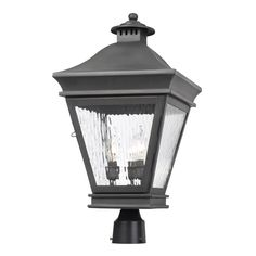 ELK Lighting 5723-C Landings 3 Light 22 inch Charcoal Outdoor Post Light