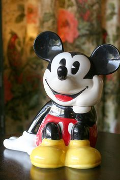 Mickey Mouse Treasure Craft Cookie Jar by thriftykitten on Etsy, $45.00