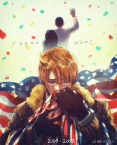 Hetalia :'3 YASSS THANK YOU OBAMA FOR YOUR SERVICE♡ i miss you already