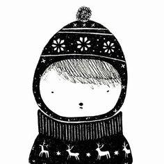 #winter #clothes #fashion #illustration #kidsfashion #hat #wool #christmas #pattern #black #deer #snowflakes #drawing #frame #portrait #print #cold #pullover #children #kinder #decor #art #design #penartist