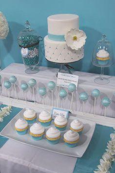 Blue Cake, Cupcakes, & Pops