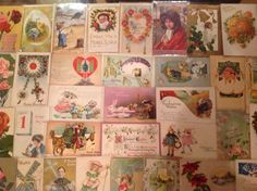 Nice! Vintage/Antique Lot of 1900's Holiday/Greetings Postcards-100 Cards-ttt946 #Easter