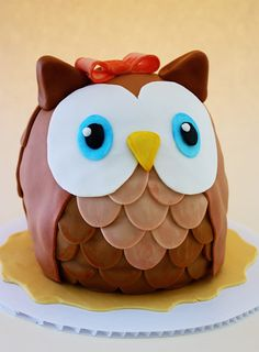 Tutorial for cute owl cake.