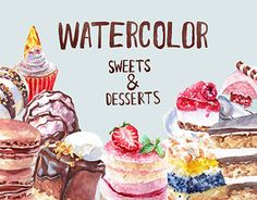 "Check out new work on my @Behance portfolio: ""Watercolor Sweets and Desserts"" http://be.net/gallery/52421409/Watercolor-Sweets-and-Desserts"